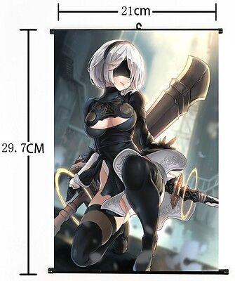"Automata Home Decor Poster Wall Scroll 8/""×12/"" 05 Hot Japan Anime Game NieR"
