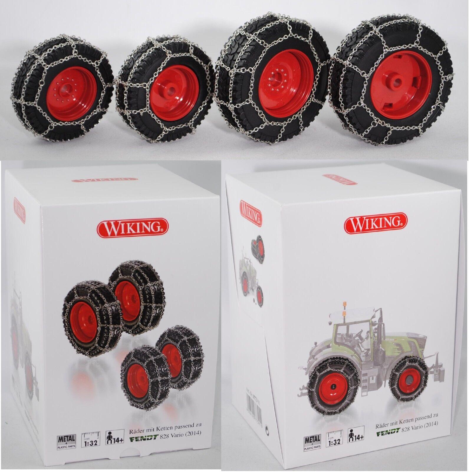 marcas de moda Juego de ruedas de 077391 077391 077391 Wiking con cadenas para fendt 828 Vario tractor 1 32  barato y de moda
