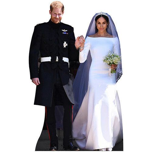 H10145 Prince Harry and Meghan Wedding Cardboard Cutout Standup