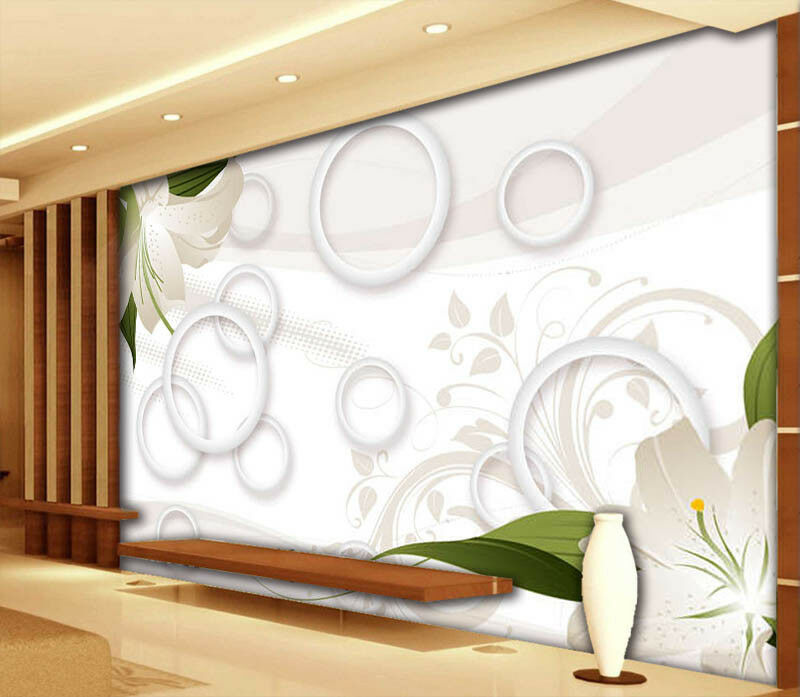 Ornate Lily 3D Full Wall Mural Photo Wallpaper Printing Home Kids Decoration