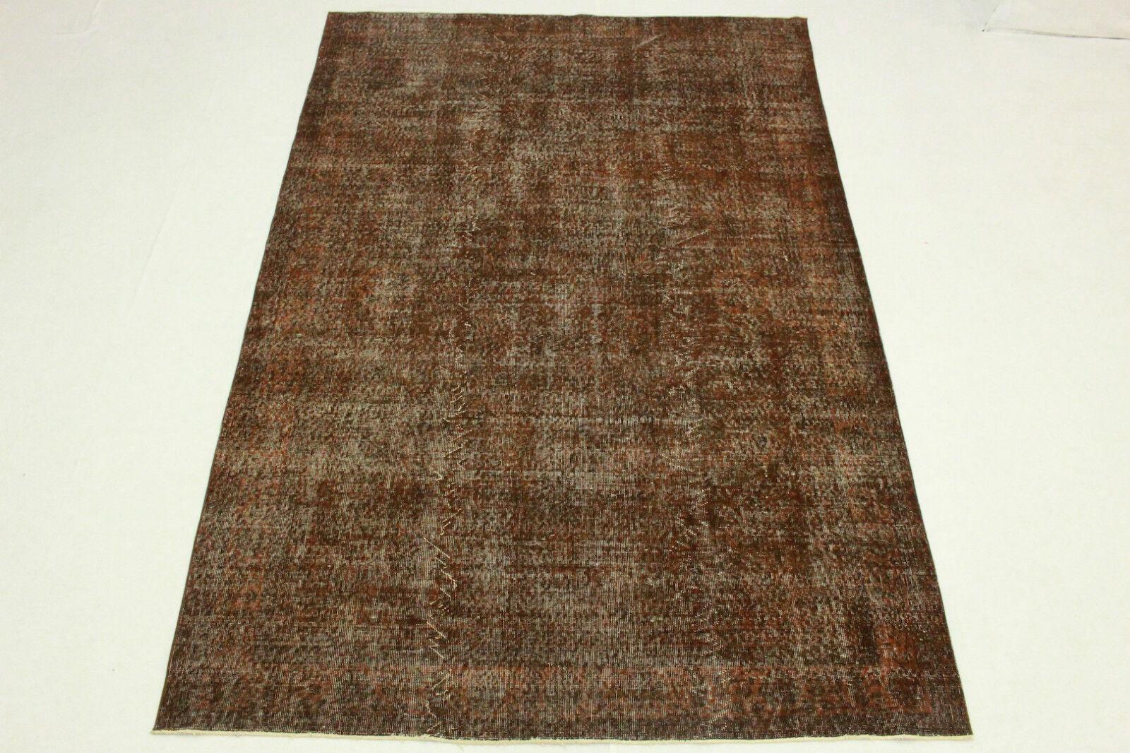 Orient alfombra vintage look usado óxido marrón 300x200 Edel oriental t5118