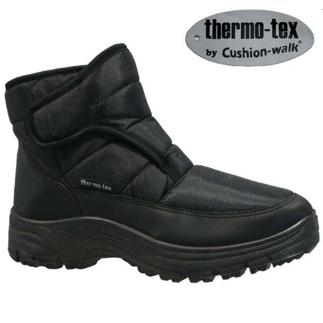 7fc9a31e5c4 MENS THERMO-TEX NON SLIP FUR WINTER SNOW WALKING HIKING SKI THERMAL BOOTS  SIZE