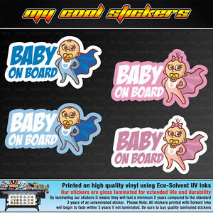 Baby-On-Board-Vinyl-Sticker-Decal-for-car-ute-4x4-Cute-Boy-or-Girl-versions