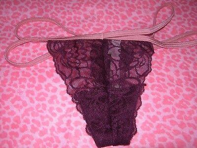 NWT Victoria Secret Burgundy Small Bombshell Brazilian Bling Rhinestone!!!!