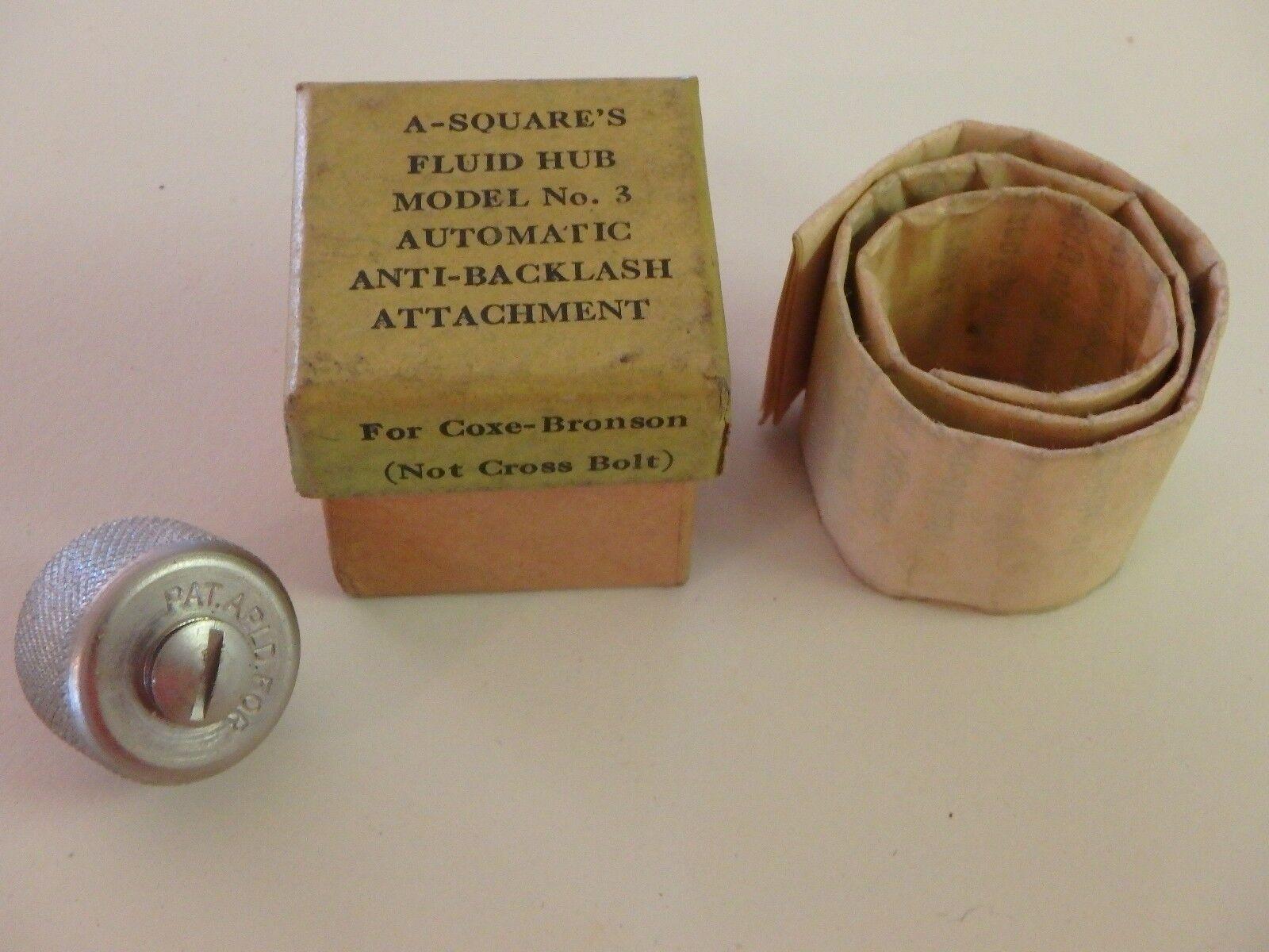 Vintage Rare A-squares Coxe Bronson Reel Fluid Grease Hub Part NOS
