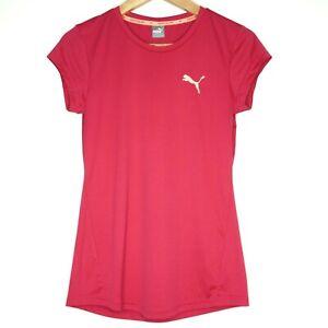 Puma Womens Activewear Top Shirt Size 14 Pink