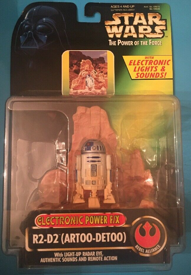 Star Wars  Power of the the the Force Electronic Power F X R2-D2 Action Figure Vintage 077977