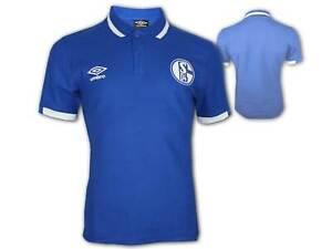 Umbro-FC-Schalke-04-CVC-Poloshirt-blau-S04-Polo-Jersey-Schalke-Fan-Shirt-S-3XL