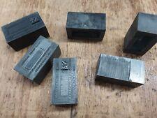 Numbering Machine Blank Spacers Type Letterpress Kelsey Printing