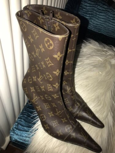 Leather 7 1 Boots 2 Ladies Dark Size Ankle 41 Brown xq0I0EwfY