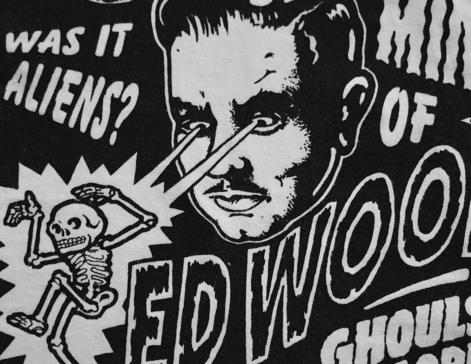 1996 90s director ed wood jr shirt vtg cult movie 60s 50s sci fi horror XL
