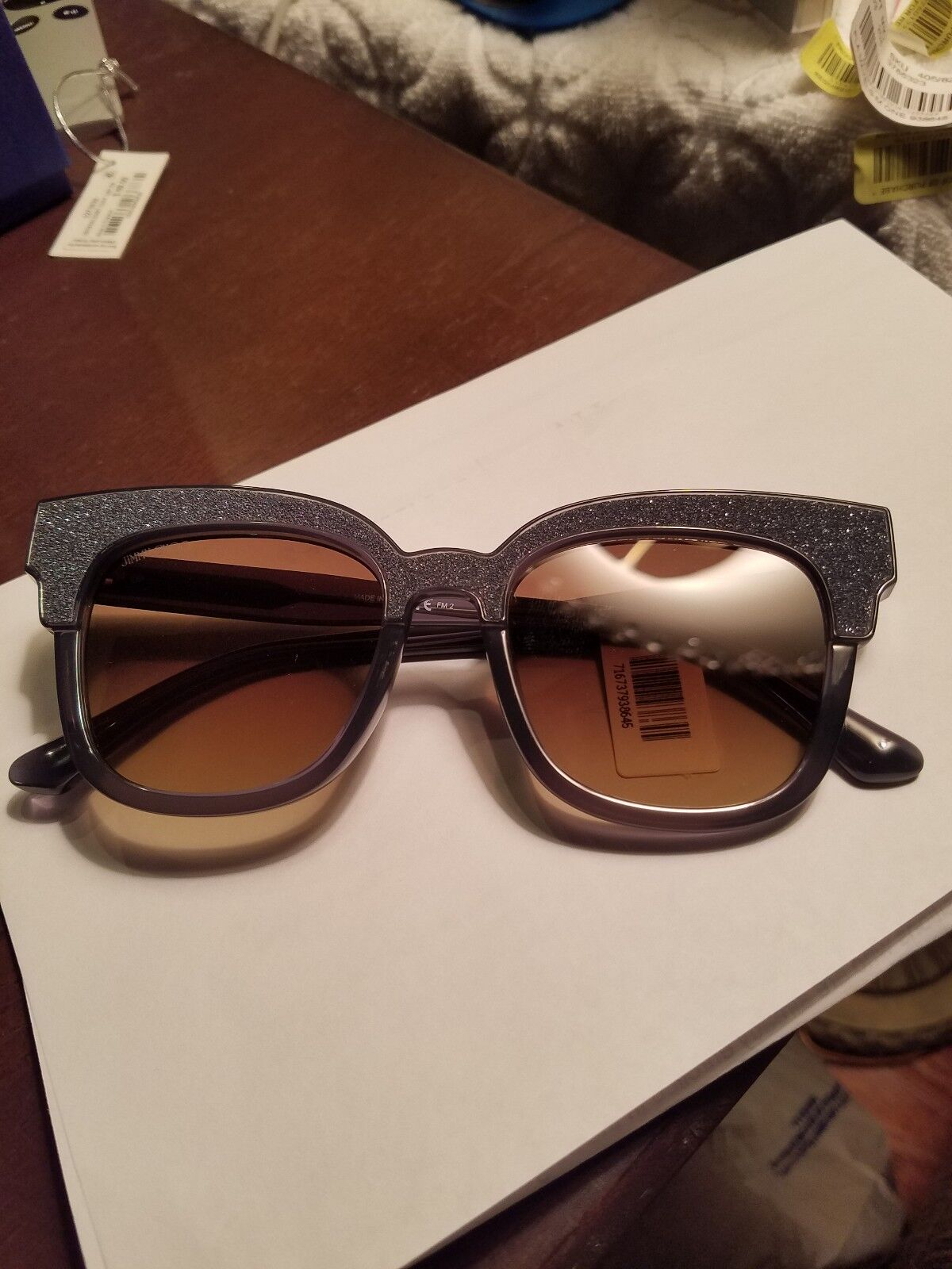 Jimmy Choo Mayela Textured Cat-Eye Sunglasses NWT Blue