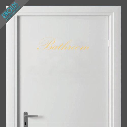DOOR BATHROOM STICKER decorative toilet art decal restroom pub B/&B hotel WALL