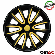 14 Inch Wheel Rim Cover Hubcap Matte Black Yellow For Toyota Camry 4pcs Set Fits Camry