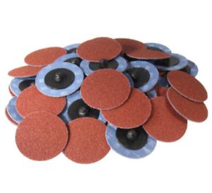 50PC-2-034-80grit-Roloc-Aluminum-Oxide-Roll-Lock-Sanding-Disc