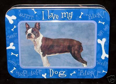 15 Boston Terrier Note Cards In Keepsake Photo Tin