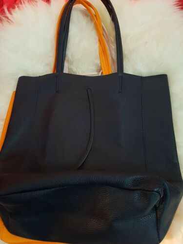 Soft Unlined Colours Leather Shopper Shopping Italian Bag Hide 5cjLAq4R3