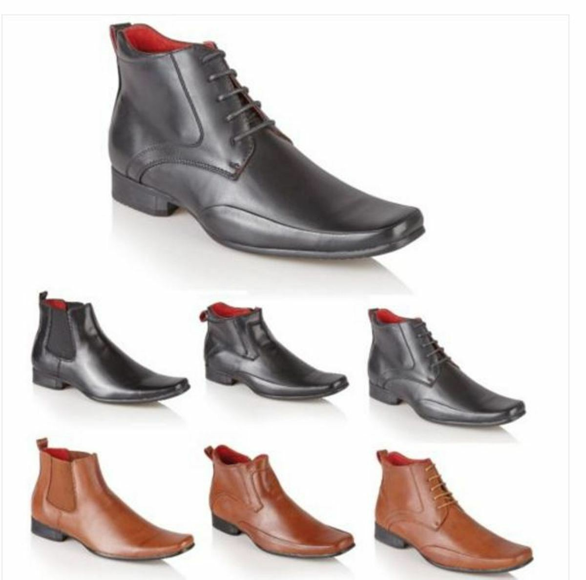 Men's Italian Style Leather Formal Casual Chelsea Ankle Boots Boys shoes