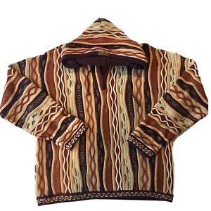 Vintage-90s-COOGI-Kapuzenpullover-Sweater-RARE-3d-Knit-Hip-Hop-Biggie-Bill-Cosby-XL