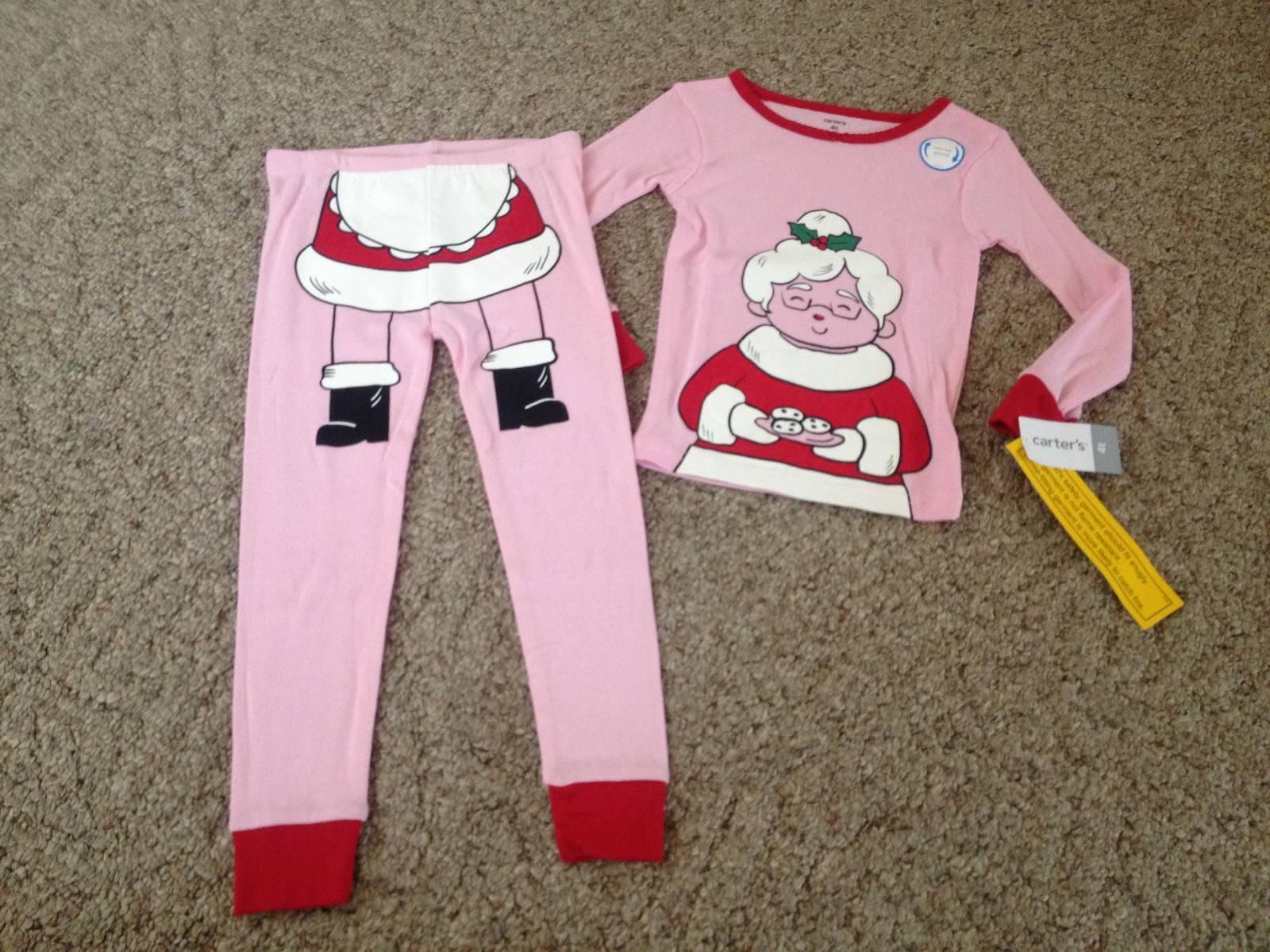 fbff900aa Buy Carter s Girls 2 Piece Santa Pajamas Pink Size 4t online