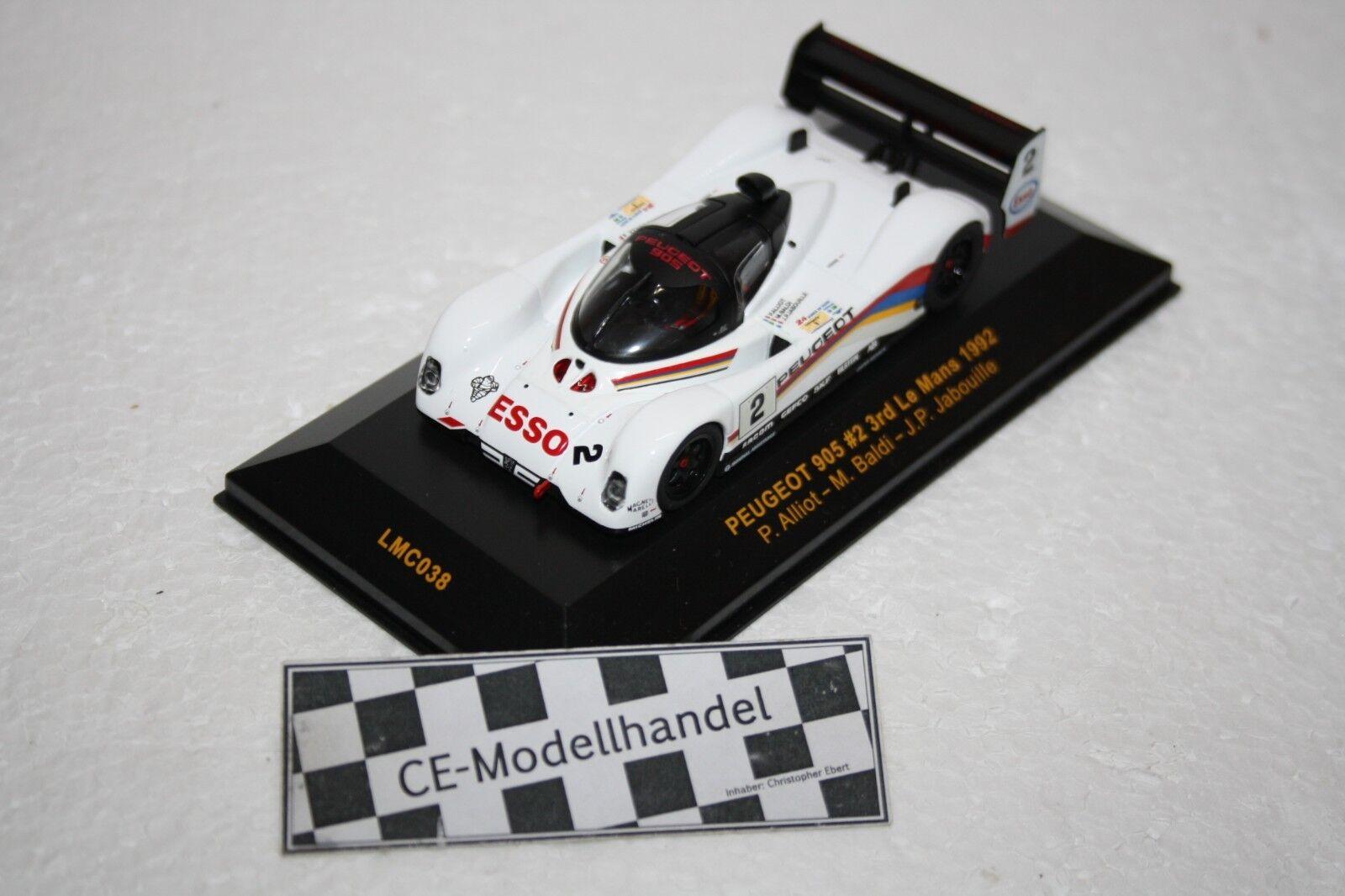 Peugeot 905 rd Le Mans • 1992 • Ixo LMC038 • 1 43