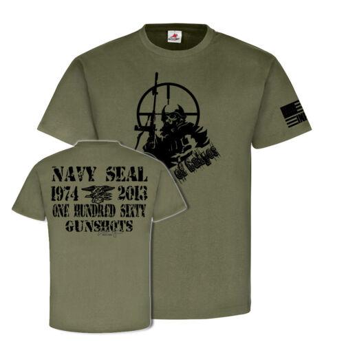 T Shirt #25524 Chris Kyle Infidel Sniper Navy Seal Gunshots Devil USA Us Army