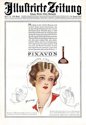 Earnest Shampoo Pixavon & Daisy Xl 1927 German Ad Curls Bob Head Hair Stylist Buy Now 1920-29