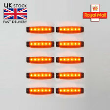 10x12v Led Yellow Side Marker Light Lamp Truck Trailer Lorry Caravan Transporter