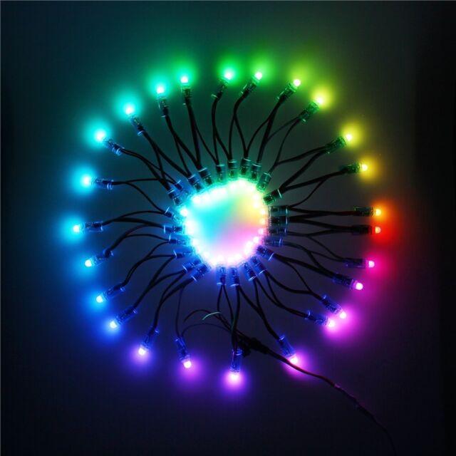 500pcs RGB LED Pixel String WS2811 12mm Diffused Digital IP68 Waterproof 5V 12V