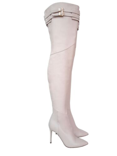 Stiefel 9 Overknee Bottes Custom Cm Beige Boots Ceinture Cq Couture Leather naw7PqA74