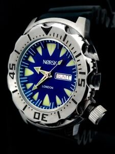 Sea-Monster-Watch-Norsk-London-medalists-Diver-Citizen-Movt-Blue