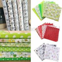 Various Patchwork Fabric Pre Cut Square Quilting Remnant Cotton DIY Fat Quarter