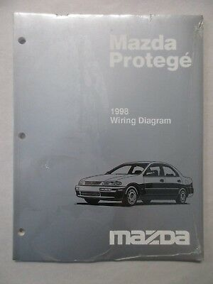 1998 MAZDA PROTEGE ELECTRICAL WIRING DIAGRAM SERVICE ...