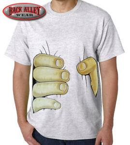 Big hand squeezing stomach t shirt m 3xl funny design for I can only please one person per day t shirt