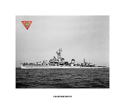 USS RICH DD 820 USN Navy Ship Print US Naval Destroyer