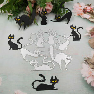 Stanzschablone-Katze-Tier-Hochzeit-Weihnachts-Oster-Geburtstag-Karte-Album-DIY