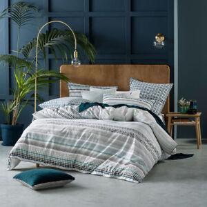Linen-House-Emmet-Teal-King-Bed-Size-Duvet-Doona-Quilt-Cover-Set
