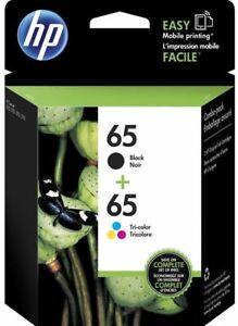 HP-65-Black-amp-65-Tri-Color-ink-Cartridges-for-DeskJet-Envy-Printers-EXP-2020