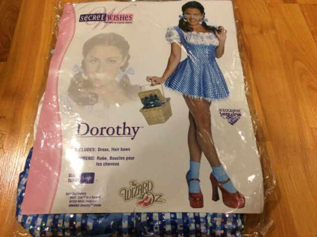 Secret Wishes Wizard of Oz 75th Anniversary Edition Sequin Dorothy Costume LARGE & Secret Wishes Wizard of Oz 75th Anniversary Edition Sequin Dorothy ...