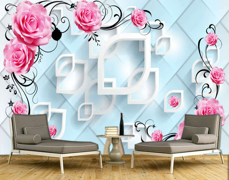 Lyric Fresh Diamond 3D Full Wall Mural Photo Wallpaper Printing Home Kids Decor