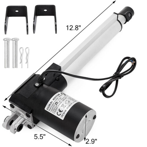"""6/"""" Inch Stroke Linear Actuator 6000N//1320lbs Pound Max Lift 12V Volt DC Motor"""