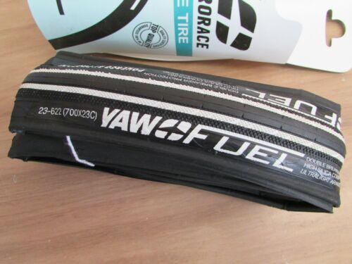 NEW PRORACE  YAW FUEL 23mm x 700c WHITE RACE TYRE 2 puncture belts  225gms