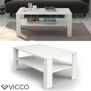 vicco couchtisch wei 100 x 60 cm wohnzimmertisch beistelltisch holztisch ebay. Black Bedroom Furniture Sets. Home Design Ideas