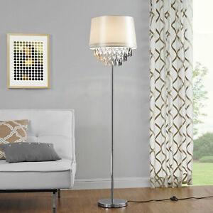 Detalles de LuxPro Lámpara de pie para salón comedor cristal lámpara de  suelo elegante
