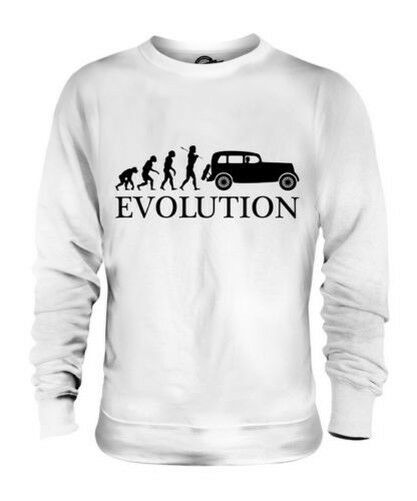 VINTAGE CAR EVOLUTION OF MAN UNISEX SWEATER MENS WOMENS LADIES GIFT CLASSIC