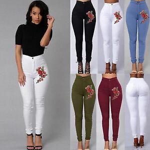 Pantalones Jeans Bordado Rosa Nueva Moda Ropa De Mujer Colombianos Levanta Cola Ebay