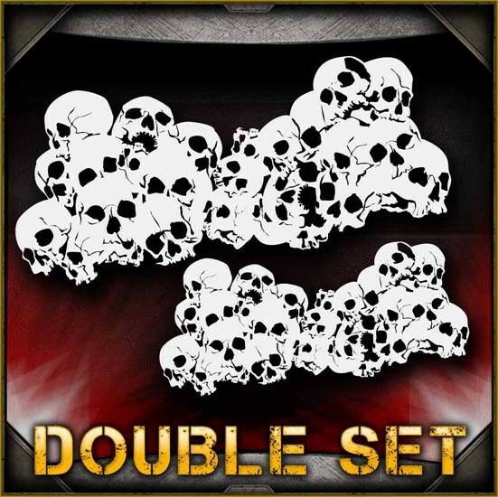 Skull Background 30 Airbrush Stencil Template Airsick