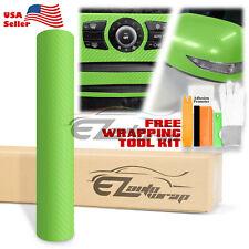 5ftx7ft 4d Gloss Green Carbon Fiber Vinyl Wrap Sticker Bubble Free Air Release