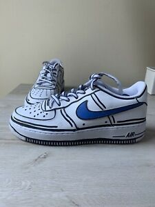 Air Force 1 Rare Custom Cartoon Blue Ebay