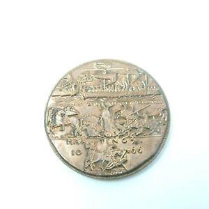 Medal-Battle-of-Hastings-Bronze-Signed-J-H-Coeffin-1066-1966